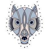 Cabeza adornada del lobo Foto de archivo libre de regalías