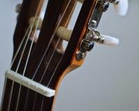 Cabeza clásica de la guitarra Fotografía de archivo