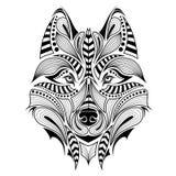 Cabeza coloreada modelada del lobo Imágenes de archivo libres de regalías