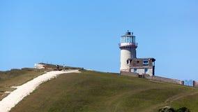 CABEZA DE BEACHEY, SUSSEX/UK - 11 DE MAYO: Belle Toute Lighthouse a foto de archivo libre de regalías