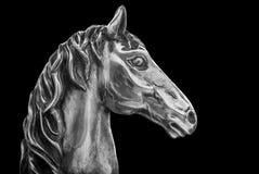 Cabeza de caballo de plata Imágenes de archivo libres de regalías