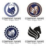 Cabeza de caballo Logo Concept Fotos de archivo