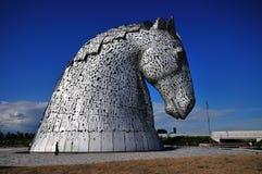 Cabeza de caballos hecha del acero Imagen de archivo libre de regalías