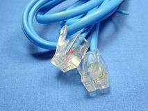 Cabeza de cable de teléfono Imagen de archivo libre de regalías