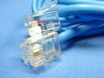 Cabeza de cable de teléfono Imagenes de archivo