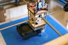 cabeza de impresión 3D Imagen de archivo