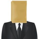 Cabeza de la bolsa de papel Foto de archivo libre de regalías