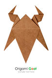 Cabeza de la cabra de la papiroflexia Fotografía de archivo libre de regalías