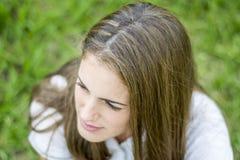 Cabeza de la chica joven Fotos de archivo