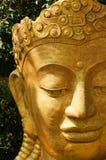 Cabeza de la estatua de Buda en el jardín de un templo, Tailandia Fotos de archivo libres de regalías