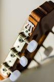 Cabeza de la guitarra Foto de archivo libre de regalías