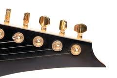 Cabeza de la guitarra eléctrica Fotografía de archivo