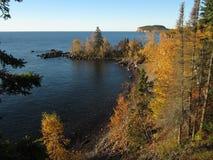 Cabeza de la palizada en el lago Superior del punto de la pala Imágenes de archivo libres de regalías