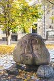Cabeza de la piedra de Riga Fotos de archivo