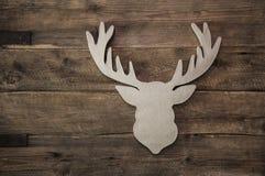 Cabeza de los ciervos con la asta para la decoración de la Navidad Fotografía de archivo