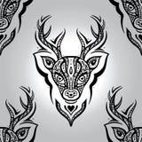 Cabeza de los ciervos Modelo inconsútil Foto de archivo libre de regalías