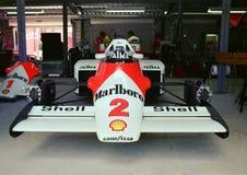 Cabeza de McLaren MP4 encendido Foto de archivo libre de regalías