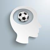 Cabeza de papel Brain Football Halftone Fotografía de archivo