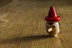 Cabeza de Pinocchio imagen de archivo libre de regalías