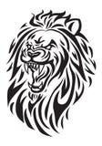 Cabeza de rugido del león Fotografía de archivo