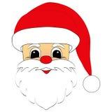 Cabeza de Santa Claus Fotografía de archivo