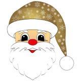 Cabeza de Santa Claus Fotografía de archivo libre de regalías