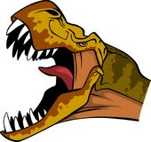 Cabeza de T Rex stock de ilustración