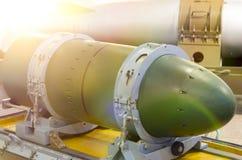 Cabeza de un misil nuclear dentro fotos de archivo