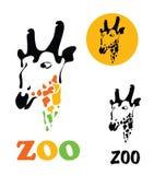 Cabeza de una jirafa Imagenes de archivo