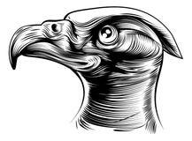 Cabeza de Woodblck Eagles Foto de archivo libre de regalías