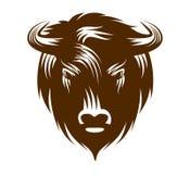 Cabeza del búfalo stock de ilustración