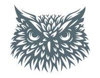 Cabeza del búho - ejemplo del vector Diseño del icono Imagen de archivo