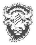 Cabeza del bisonte Muestra, emblema, logotipo Imágenes de archivo libres de regalías