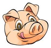 Cabeza del cerdo stock de ilustración