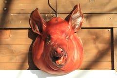 Cabeza del cerdo asada Foto de archivo