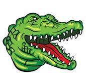 Cabeza del cocodrilo stock de ilustración