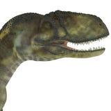 Cabeza del dinosaurio del Abelisaurus ilustración del vector