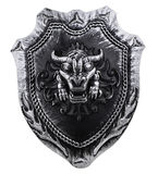Cabeza del dragón del ingenio del escudo Imágenes de archivo libres de regalías