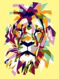 Cabeza del ejemplo del arte pop del león libre illustration