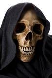 Cabeza del esqueleto de la muerte de Halloween Imagenes de archivo