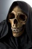 Cabeza del esqueleto de la muerte de Halloween Foto de archivo