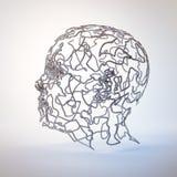 cabeza del extracto 3D ilustración del vector