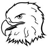 Cabeza del águila Foto de archivo