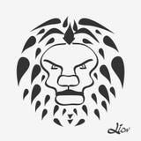 Cabeza del león - ejemplo del vector Fotografía de archivo