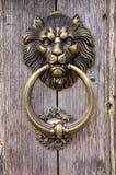 Cabeza del león, golpeador de puerta Fotos de archivo libres de regalías
