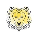 Cabeza del león, ornamento Tótem africano, estilo del boho, diseño de destello del tatuaje Arte antiesfuerzo ilustración del vector