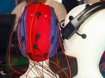 Cabeza del maniquí con el sensor Foto de archivo libre de regalías