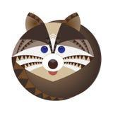 Cabeza del mapache, stylization geométrico decorativo Foto de archivo libre de regalías