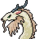 Cabeza del monstruo del arte del pixel del vector ilustración del vector