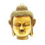 Cabeza del oro de Buda Fotografía de archivo